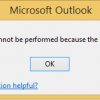 outlook 2013 error