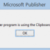 Publisher clipboard in busy error