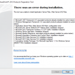 SharePoint Foundation 2013 install error1