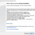 SharePoint Foundation 2013 install error1
